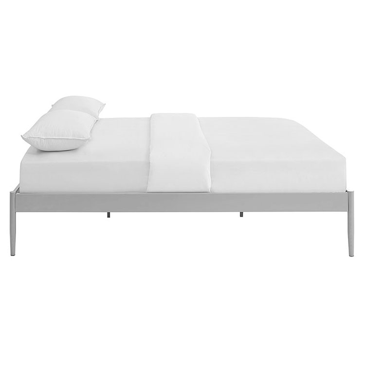 queen bed side view. Modren View Eric Modern Metal Platform Bed Frame In Gray  Side View Throughout Queen E