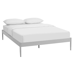 Eric Modern Metal Platform Bed Frame in Gray
