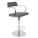 Erna Gray Adjustable Modern Stool