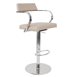 Erna Latte Adjustable Modern Stool