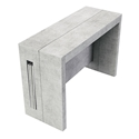 Errai Extendable / Convertible Concrete Modern Console + Dining Table