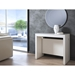 Errai Extendable / Convertible White Contemporary Console + Dining Table