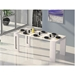 Errai Convertible White Contemporary Console + Dining Table