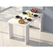 Errai Convertible White Modern Console + Dining Table