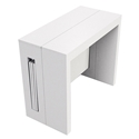Errai Extendable / Convertible White Modern Console + Dining Table
