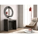 Errai Black Faux Marble Melamine Laminate Modern Console Table - Closed