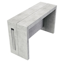 Estuary Faux Concrete Expandable Modern Console Table + Dining Table