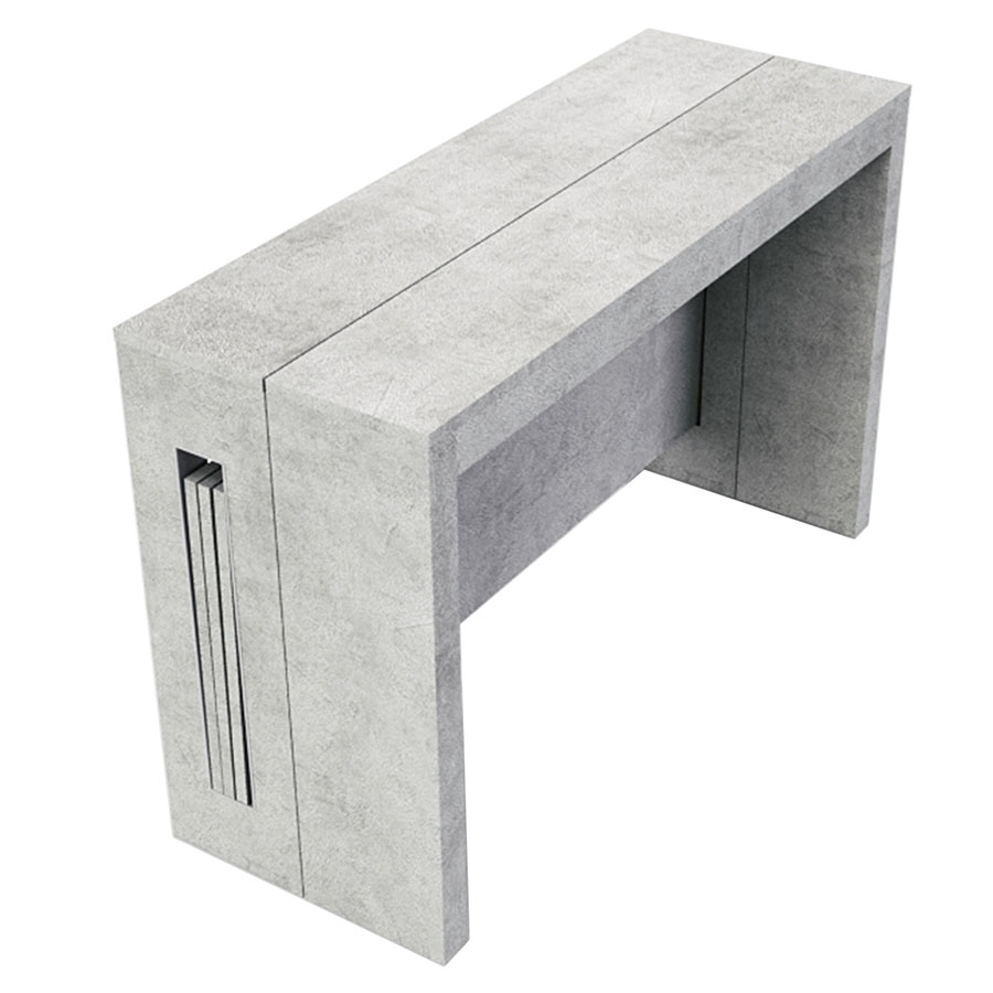 Delightful Call To Order · Estuary Faux Concrete Expandable Modern Console Table +  Dining Table