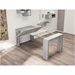 Estuary Faux Concrete Expandable Contemporary Console Table + Dining Table