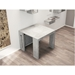 Estuary Faux Concrete Expandable Modern Console + Dining Table