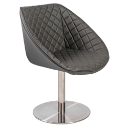 Etan Modern Gray Lounge Chair by Euro Style