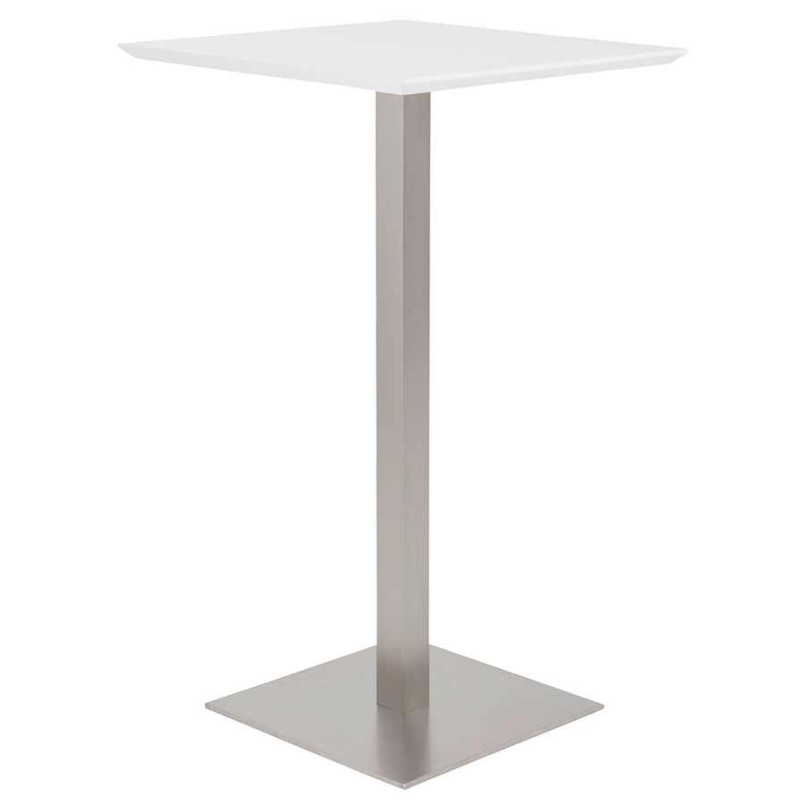 Modern bar tables ethan white bar table eurway for Table bar moderne