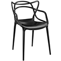 Eugene Modern Indoor Outdoor Black Dining Chair