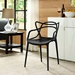 Eugene Modern Black Indoor Outdoor Side Chair