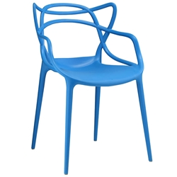 Eugene Modern Indoor Outdoor Blue Dining Chair