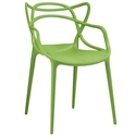 Eugene Modern Indoor Outdoor Green Dining Chair
