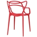 Eugene Modern Indoor Outdoor Red Dining Chair - Back View