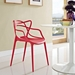 Eugene Modern Red Indoor Outdoor Side Chair