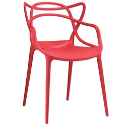 Eugene Modern Indoor Outdoor Red Dining Chair