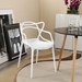 Eugene Modern White Indoor Outdoor Side Chair
