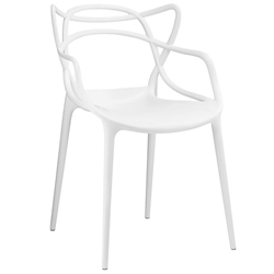 Eugene Modern Indoor Outdoor White Dining Chair