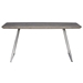 Eureka 63 in. Gray Modern Dining Table by Euro Style - Side View