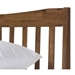 Evans Contemporary Walnut Platform Bed - Headboard Detail