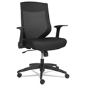 Everest Modern Mid-Back Black Mesh Office Chair
