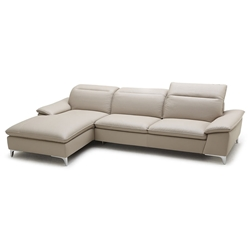 Evigt Modern Sofa w/ Chaise in Taupe - Left Facing