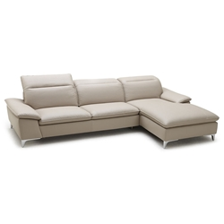 Evigt Modern Sofa w/ Chaise in Taupe - Right Facing