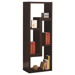 Evo Vertical + Horizontal Shelving Unit in Cappuccino