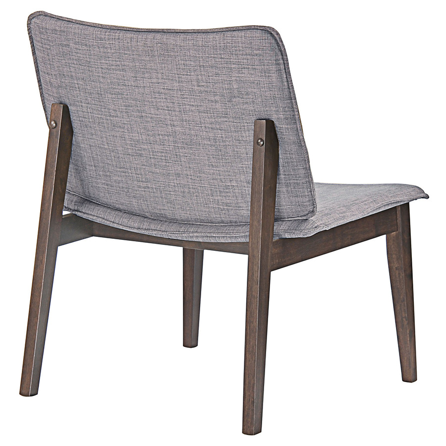 Evolve Gray Lounge Chair - Back View