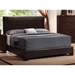 Excel Modern Upholstered Bed in Brown Faux Leather