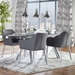 Exeter Contemporary Gray Arm Chairs