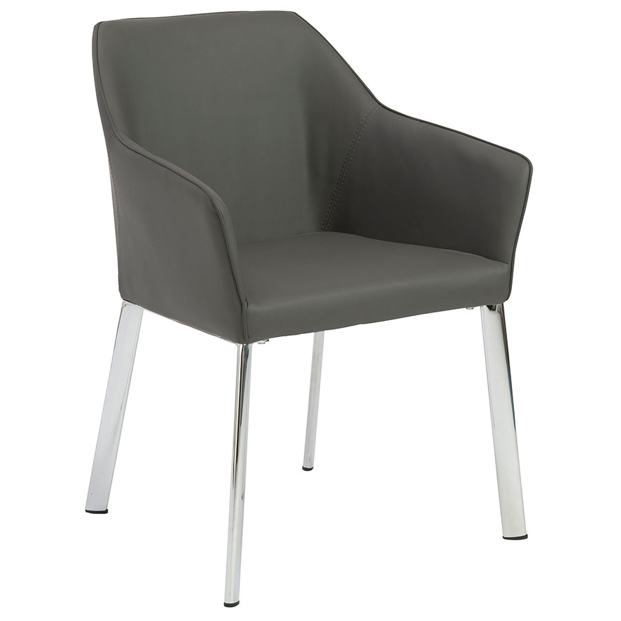Exeter modern gray dining arm chair eurway modern for Modern arm chair