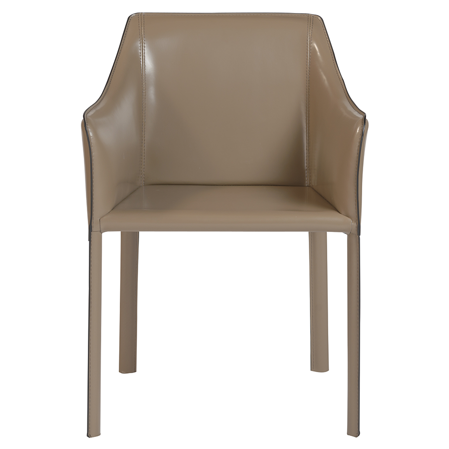 ... Eysen Taupe Contemporary Arm Chair ...