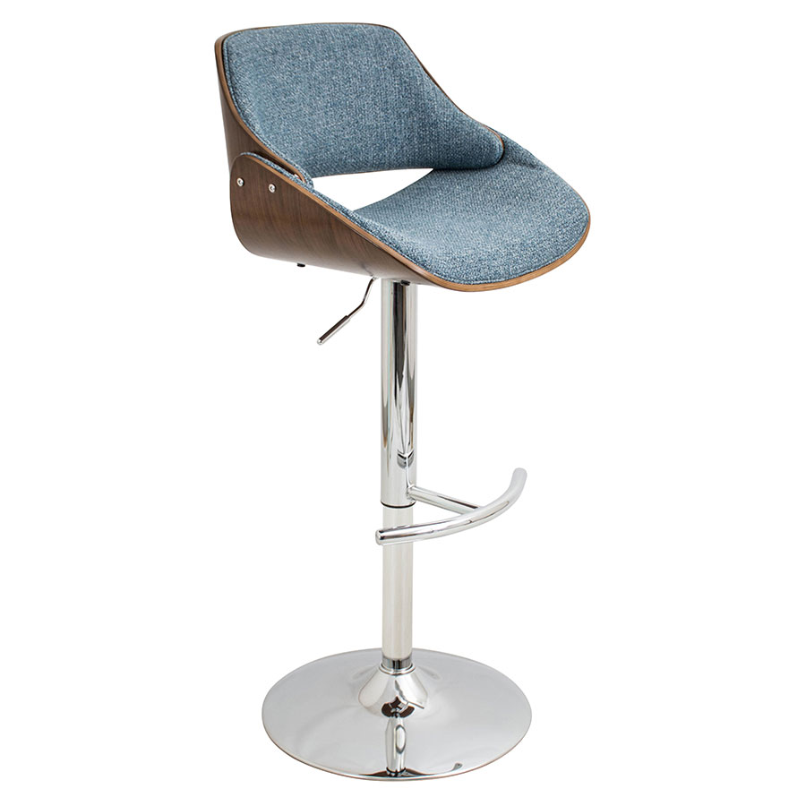 Fabien Blue Modern Adjustable Stool