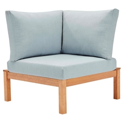 Fairfax Modern Outdoor Karri Wood Corner Chair