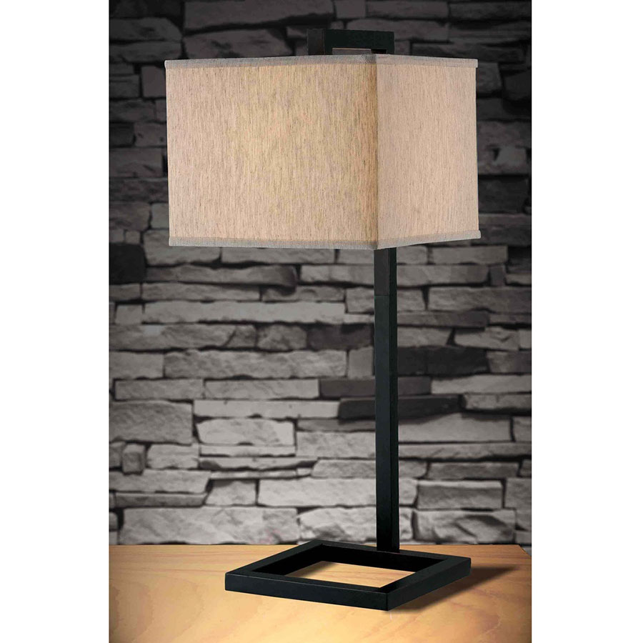 ... Falkirk Contemporary Oil Rubbed Bronze Table Lamp