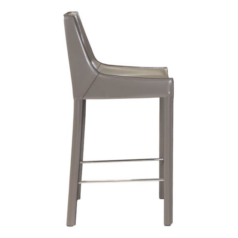 ... Falwell Tan Recycled Leather + Chrome Metal Modern Bar Height Stool ...  sc 1 st  Eurway & Modern Bar Stools | Falwell Tan Bar Stool | Eurway islam-shia.org