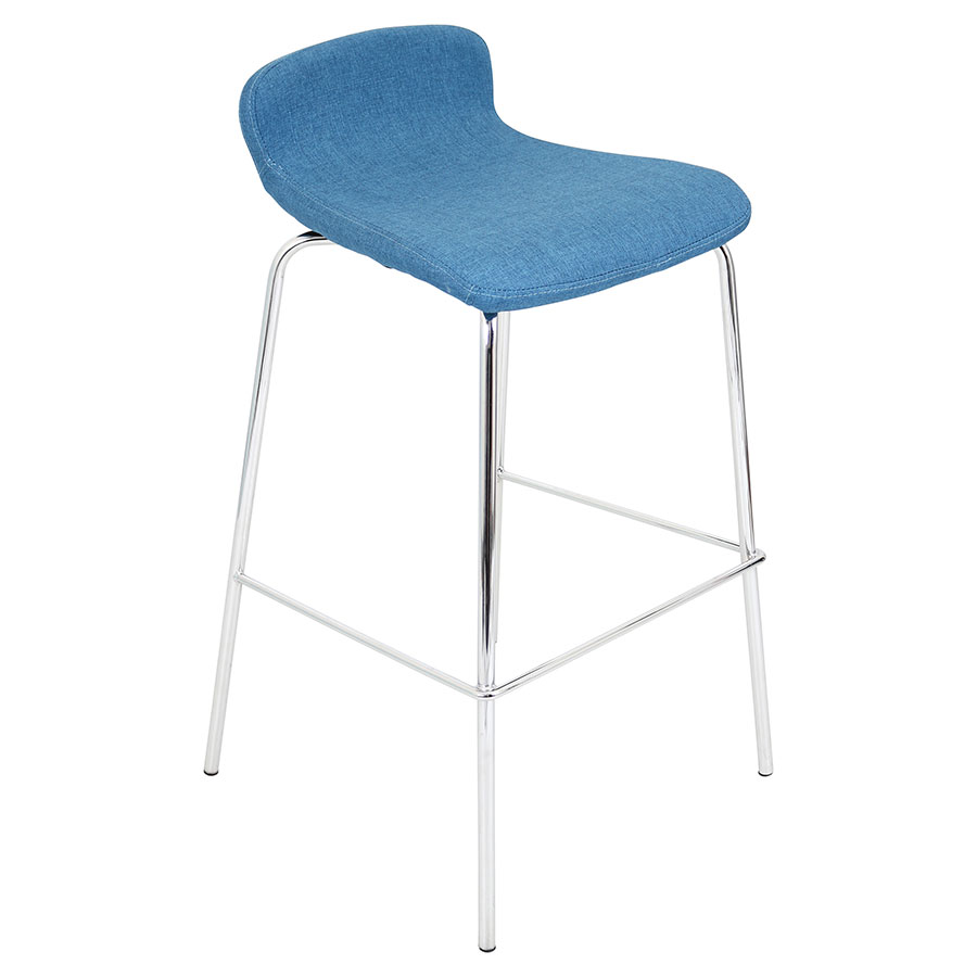 Farley Blue Modern Bar Stool