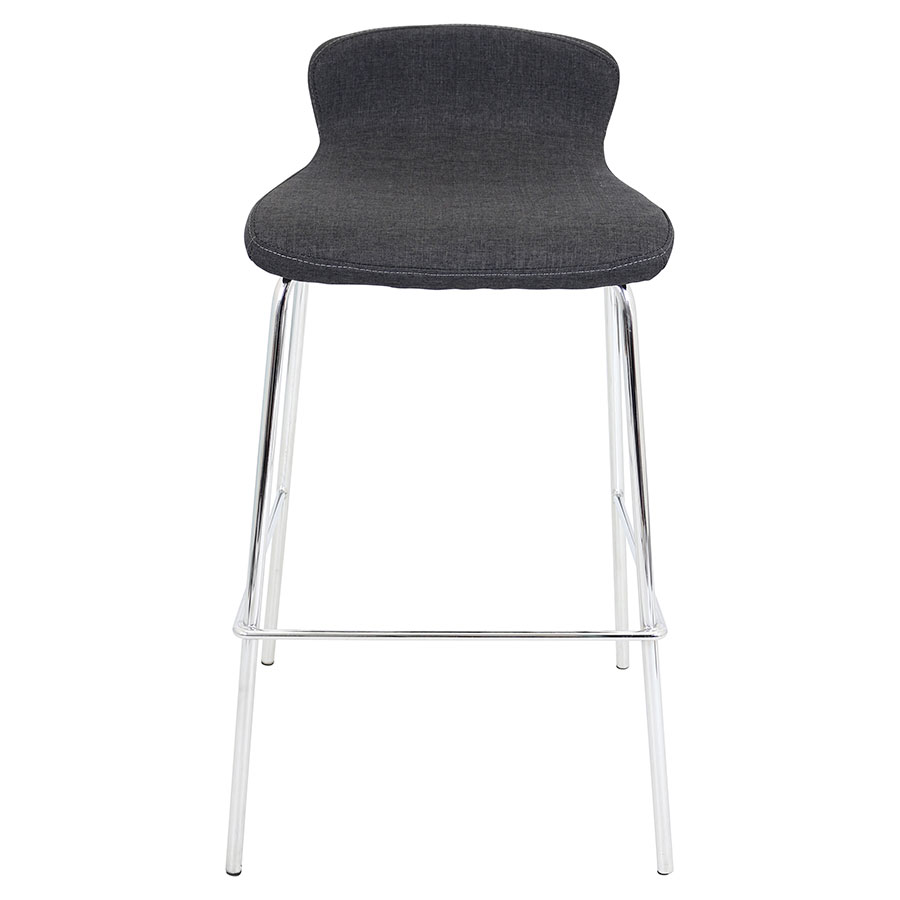 Farley Charcoal Stacking Modern Bar Stool