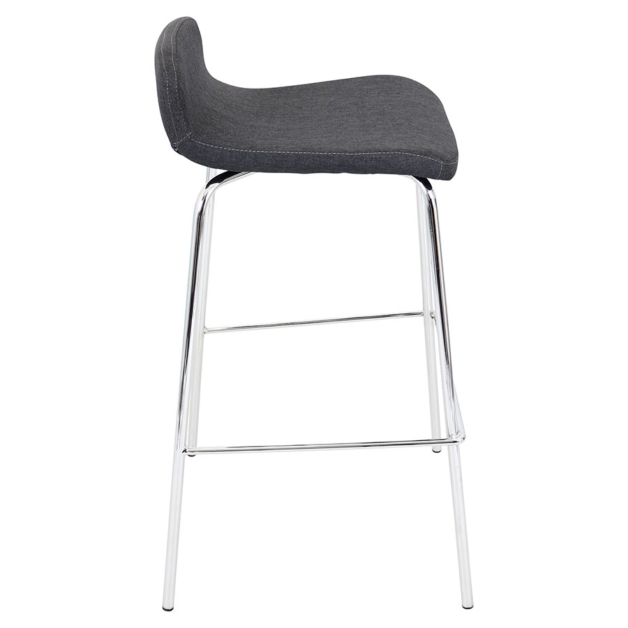 Farley Charcoal Stacking Contemporary Bar Stool