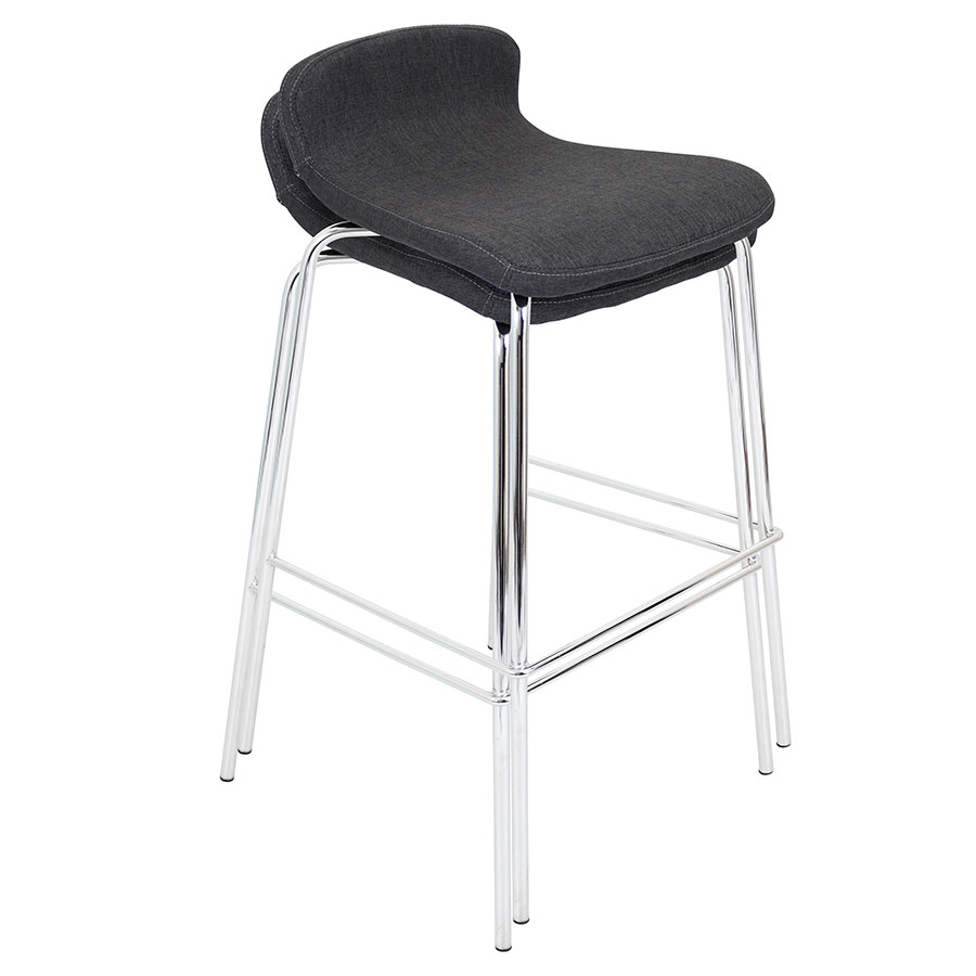 Farley Charcoal Contemporary Bar Stool
