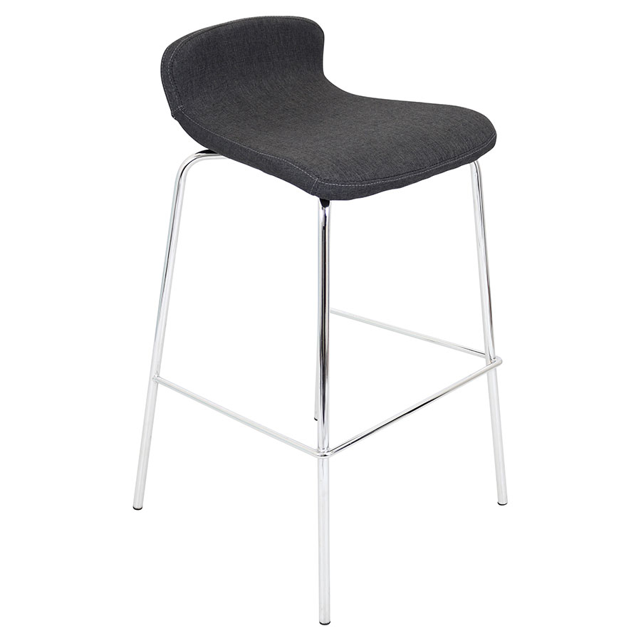 Farley Charcoal Modern Bar Stool