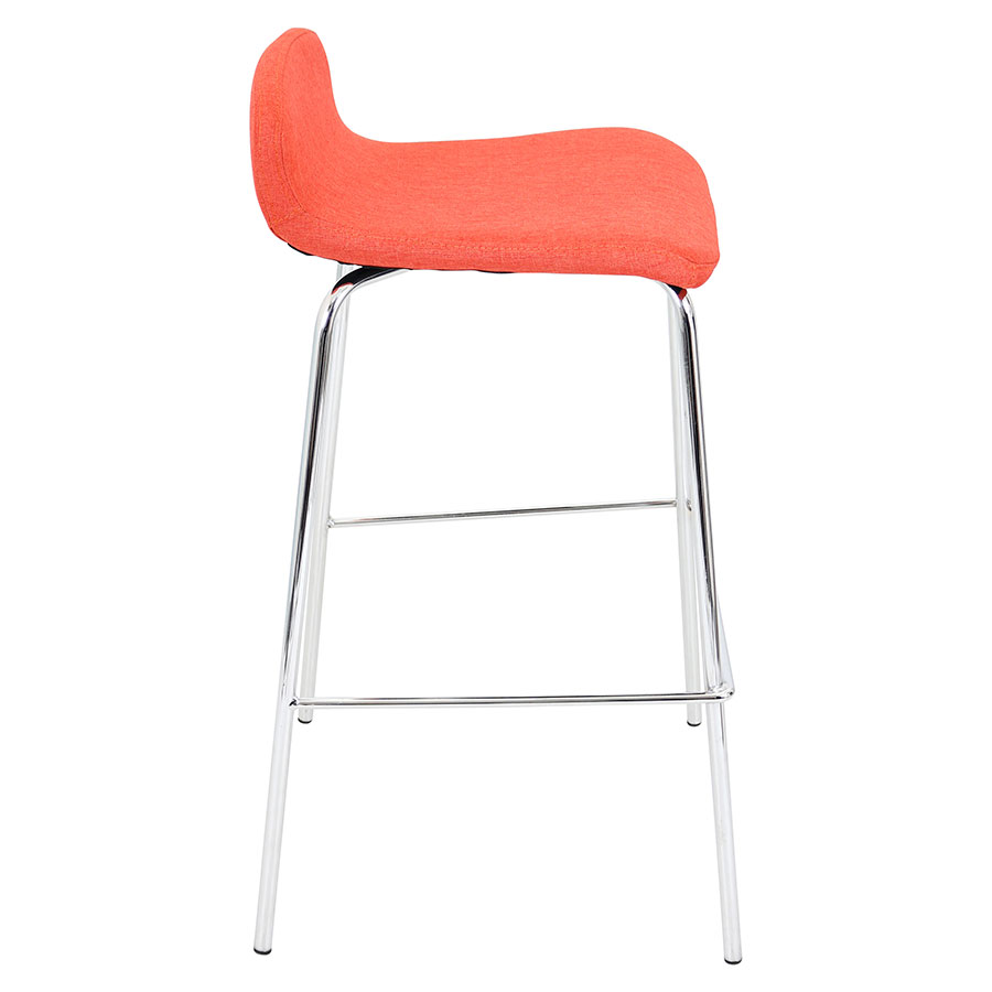 Orange Modern Bar Stools Gorgeous Hood Kitchen Design With
