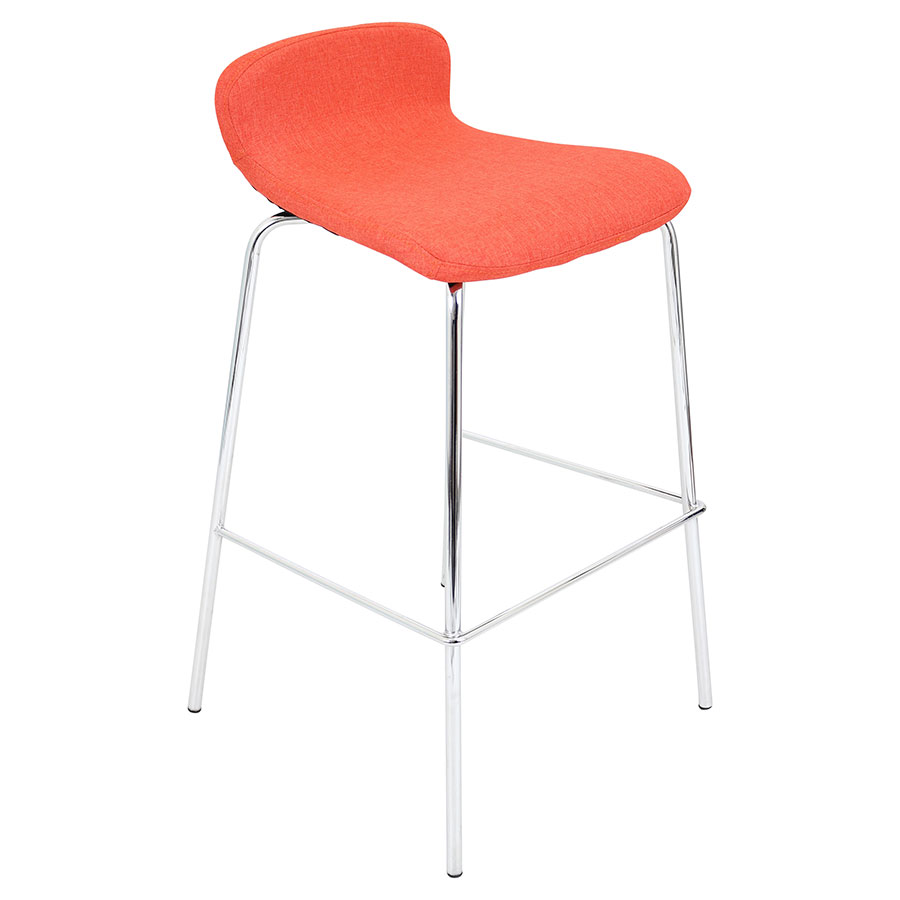 Farley Orange Modern Bar Stool