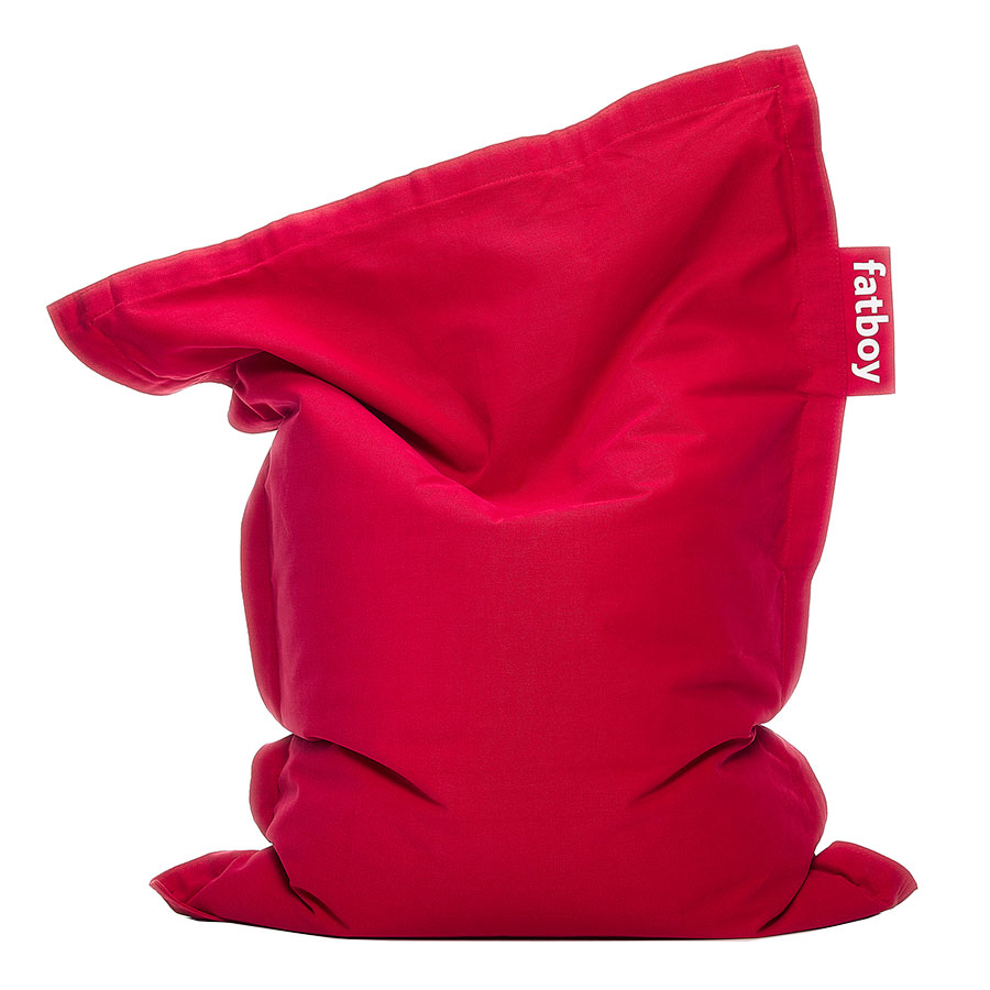 Fatboy Junior Stonewashed Red Modern Bean Bag Chair