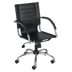 Fathom Black Modern Leather Office Chair