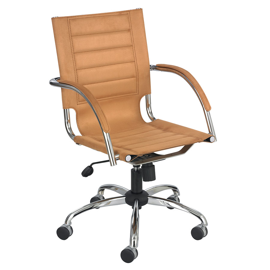 Call To Order Fathom Modern Camel Microfiber Office Chair